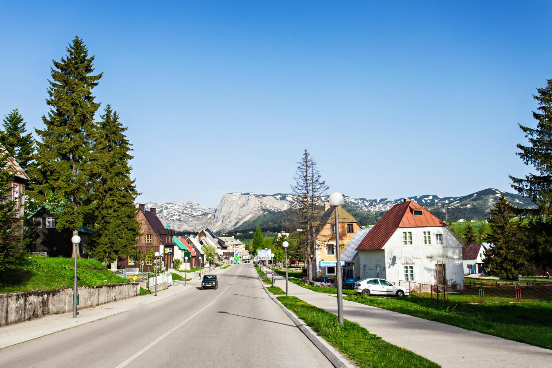 Main street in Zabljak