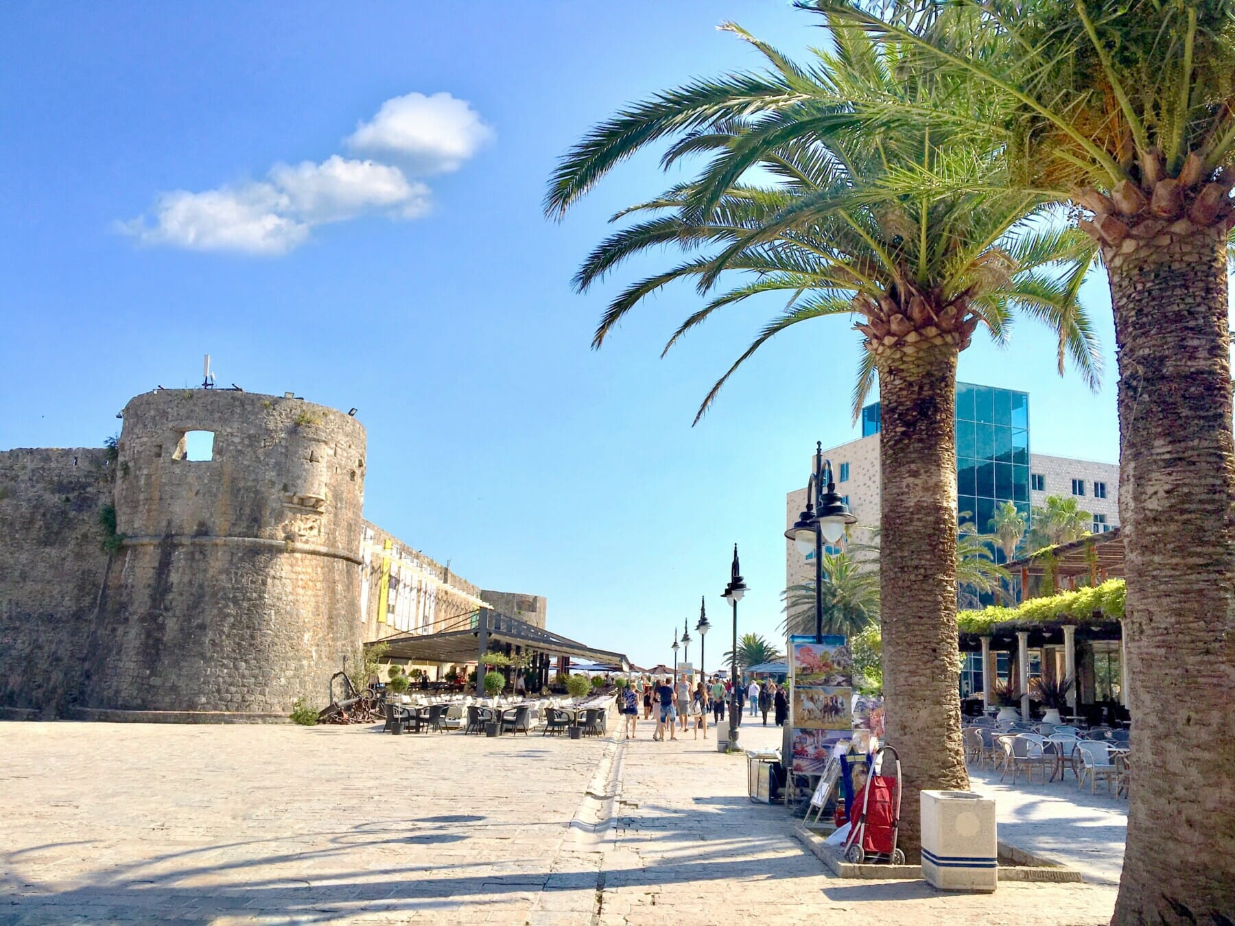 travel in budva montenegro palms and old town montenegro adventure