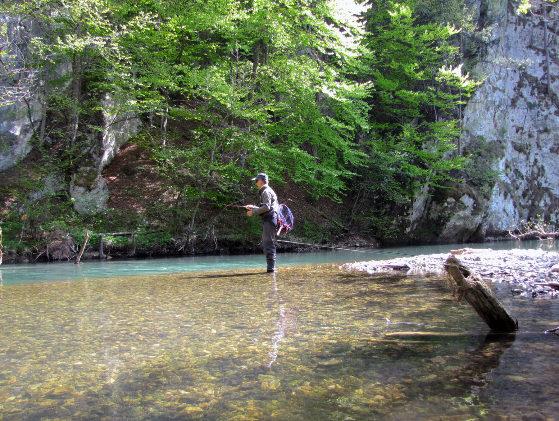Fly fishing district Voloder canyon