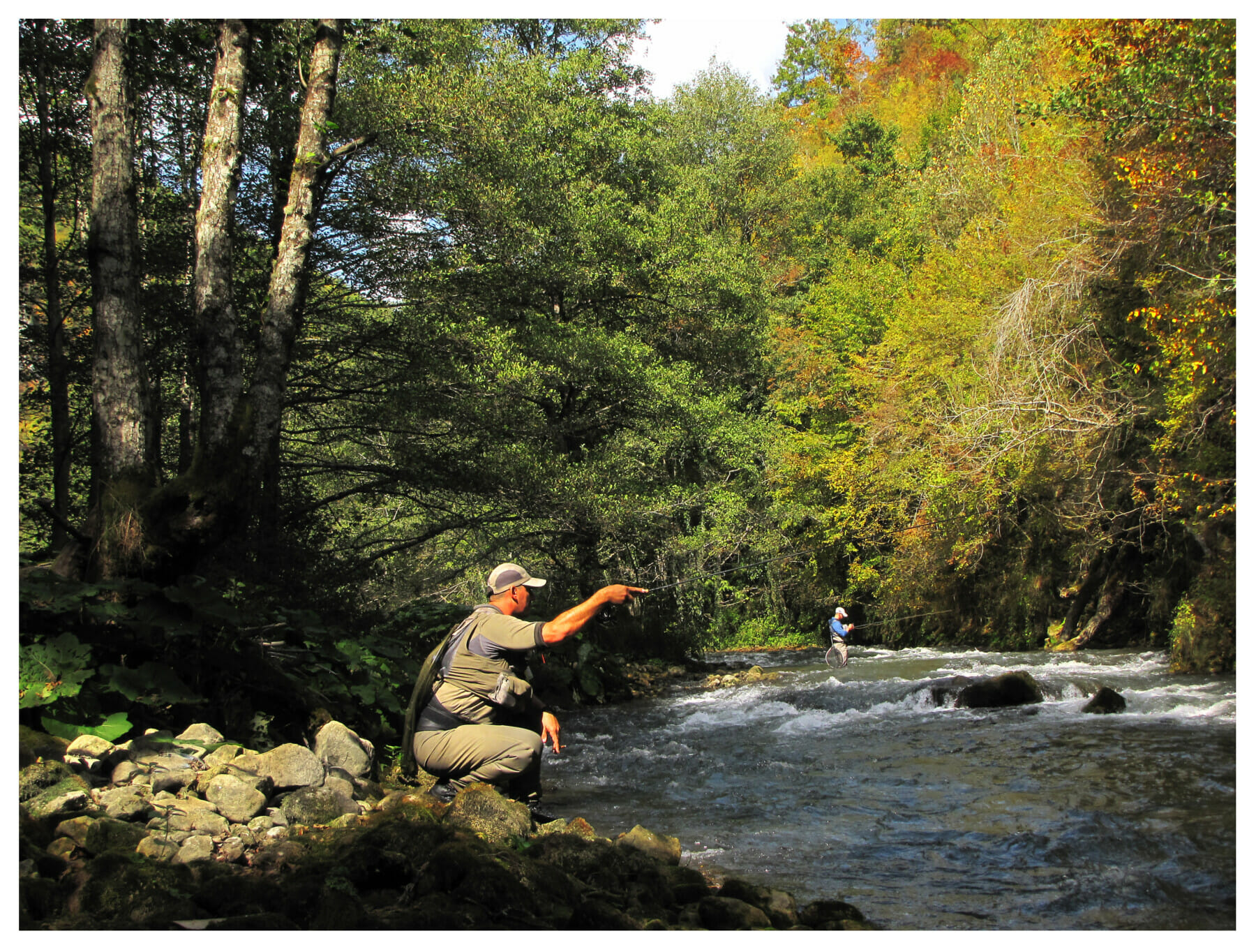 Nature and ambient for fly fishing, Ćehotina river