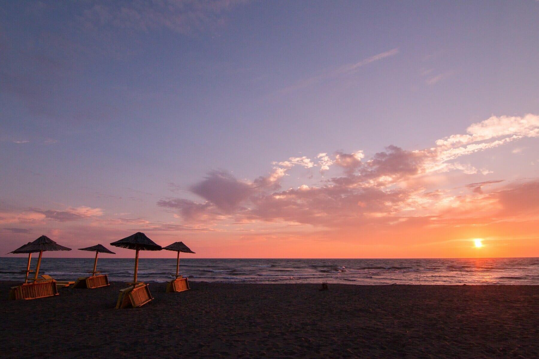 Long Beach Ulcinj at sunset
